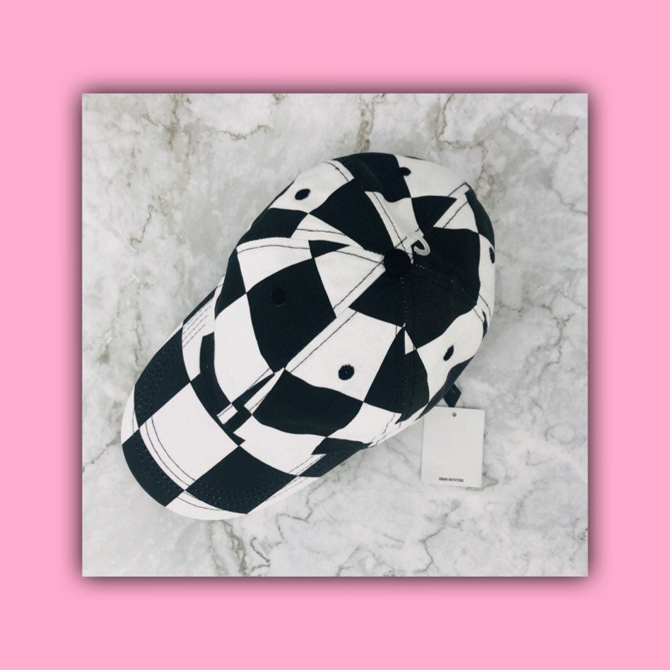 NWT URBAN OUTFITTERS Black White Hat Cap