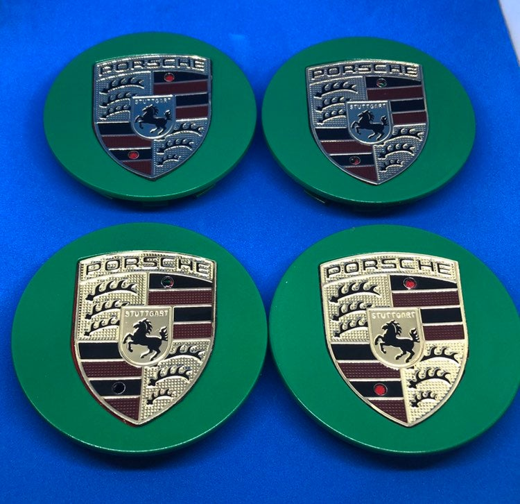 4 center cap green Porsche 76 mm new