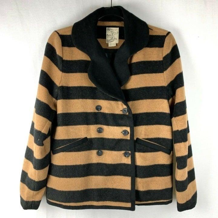 Tulle Anthro Wool Jacket Tan Black