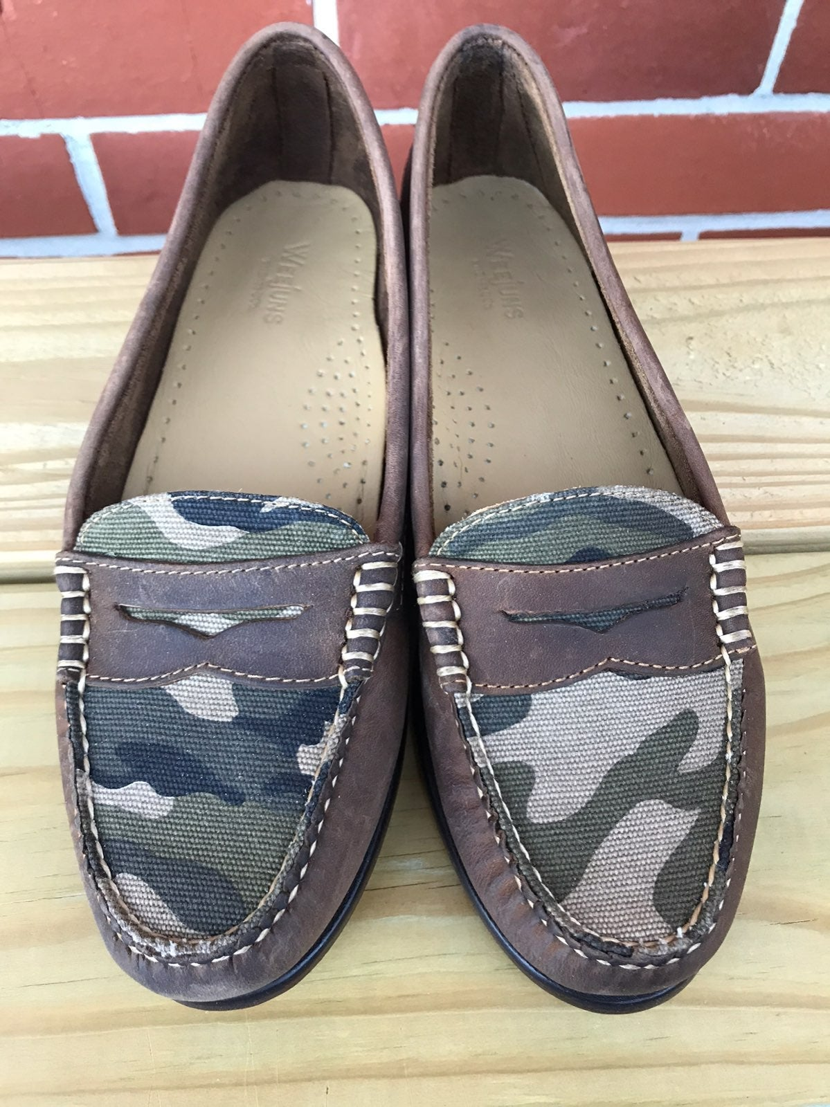 Weejuns Bass Leather Shoes Camo 8.5