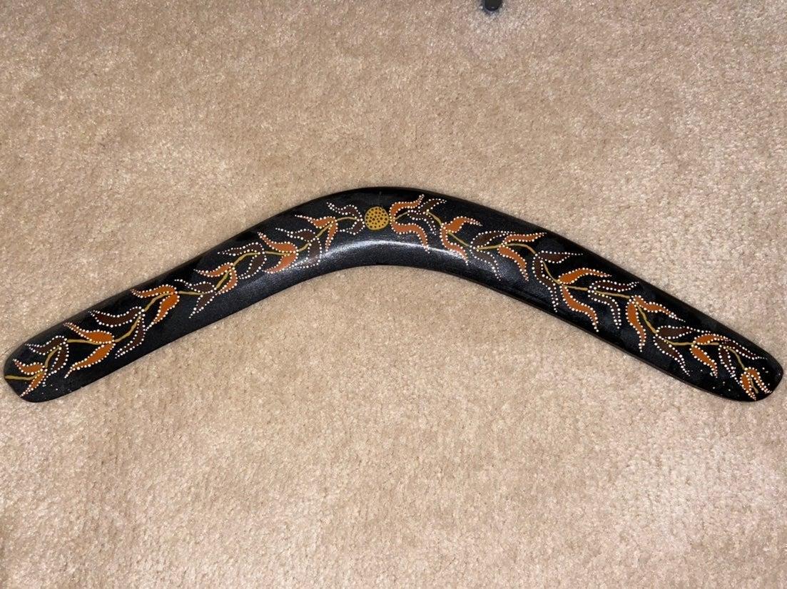 Handmade Aboriginal Boomerang