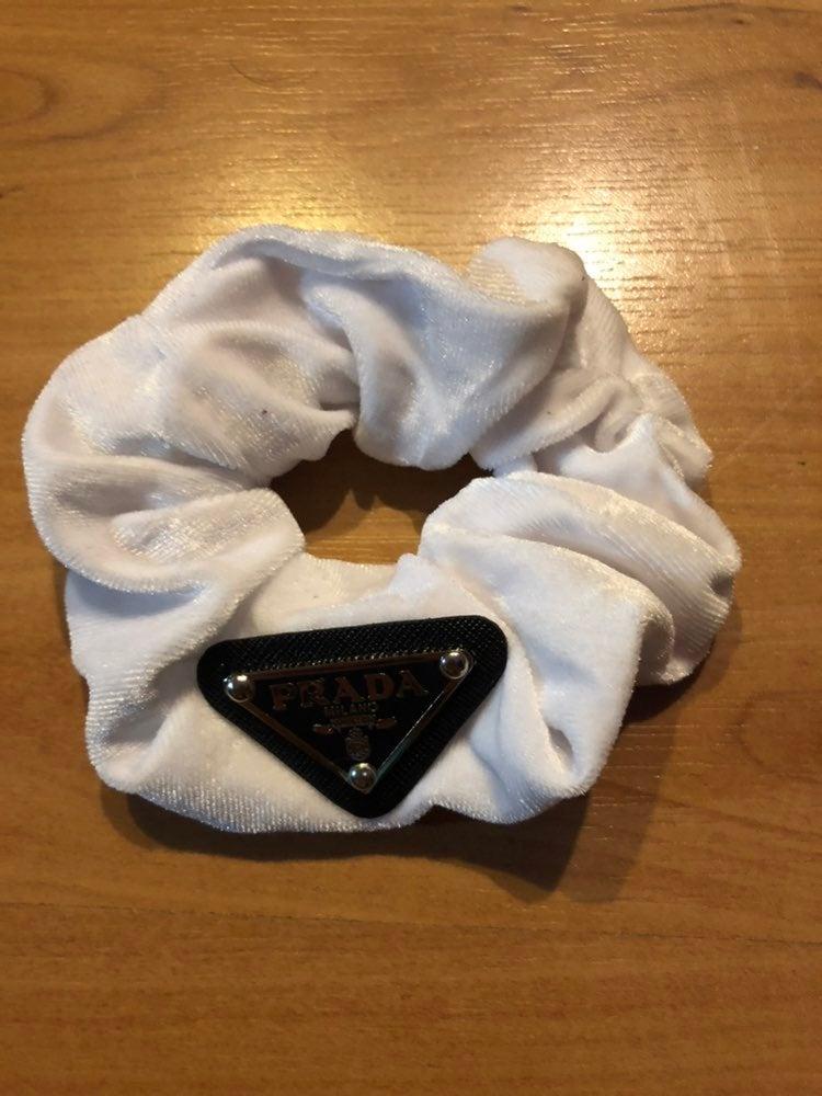 Prada Hair Scrunchie (White)