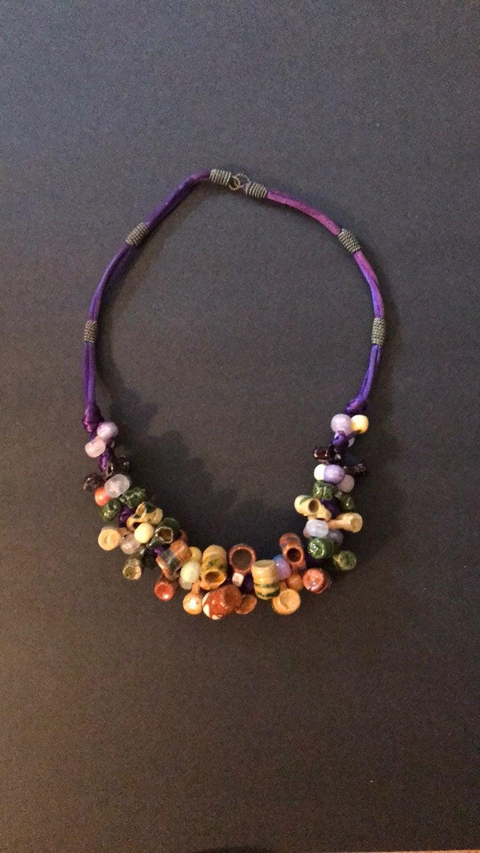 Vintage handmade Mexican necklace