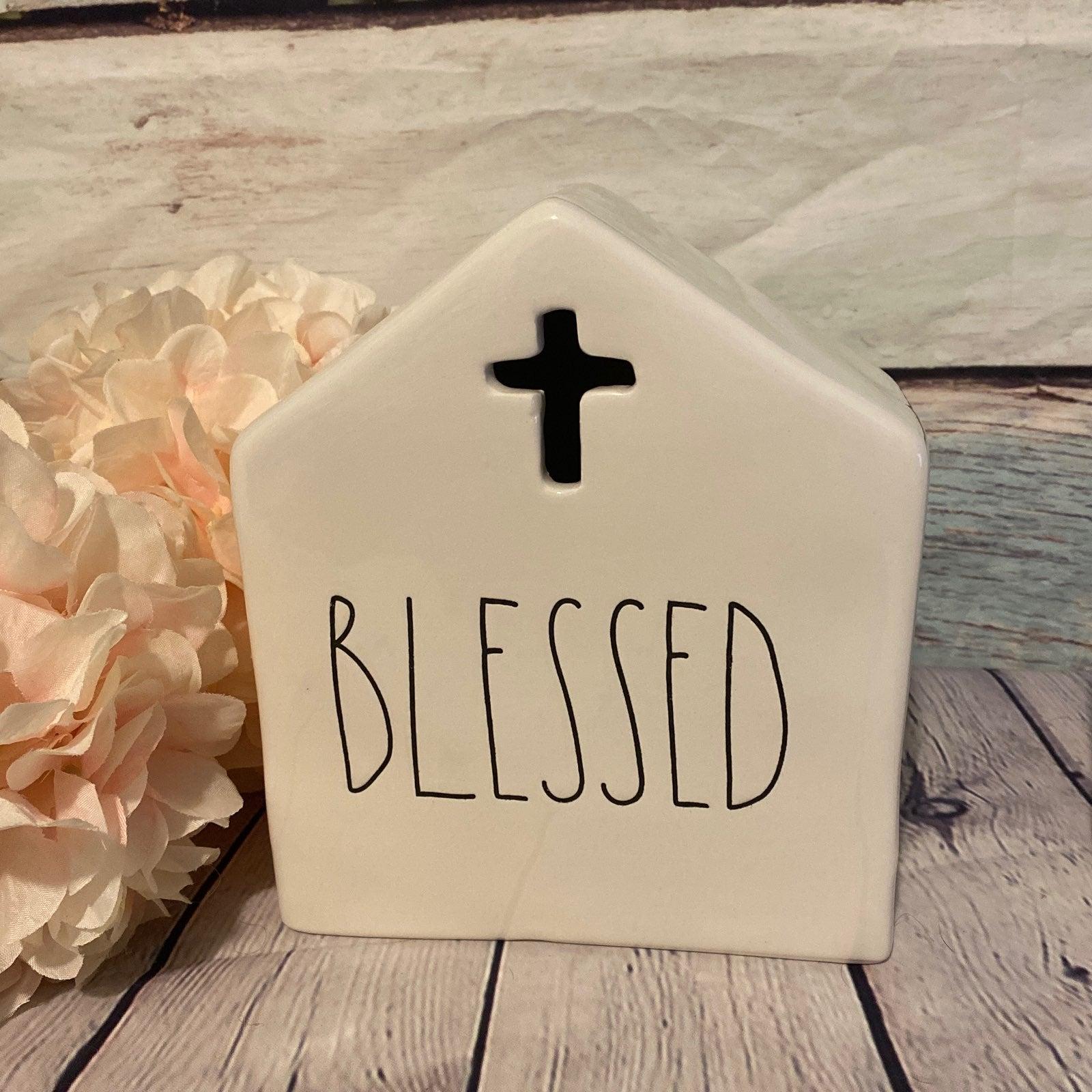 Rae Dunn Christian Blessed House