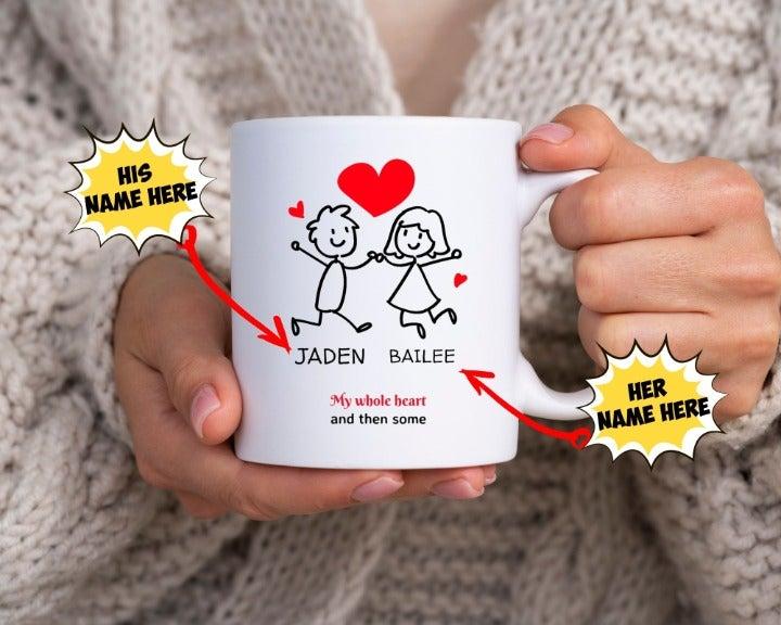 Custom Cartoon Valentines Mug #4