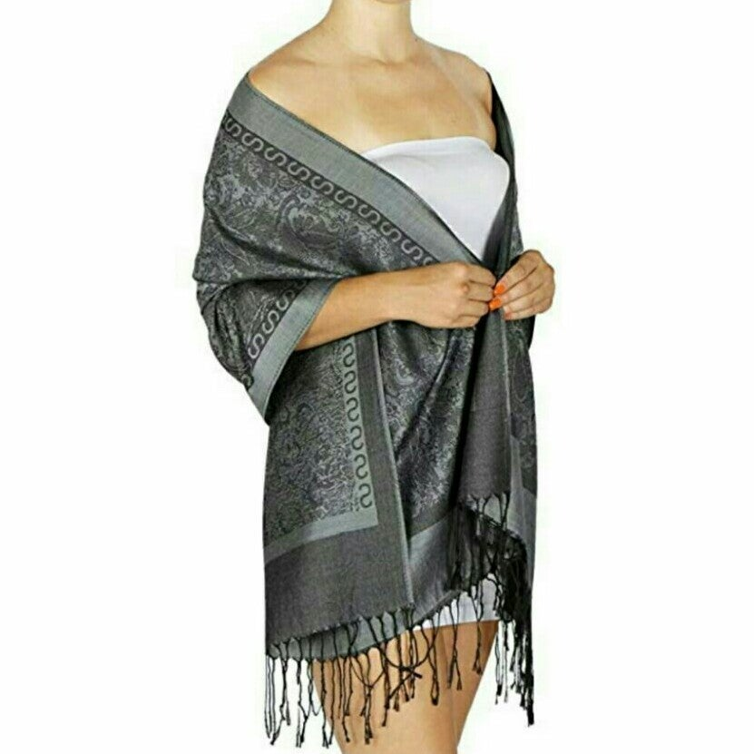 NEW Dark Gray Pashmina, Shawl, Wrap