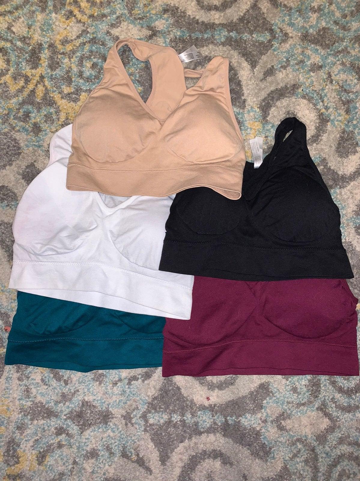 (5) sports bras