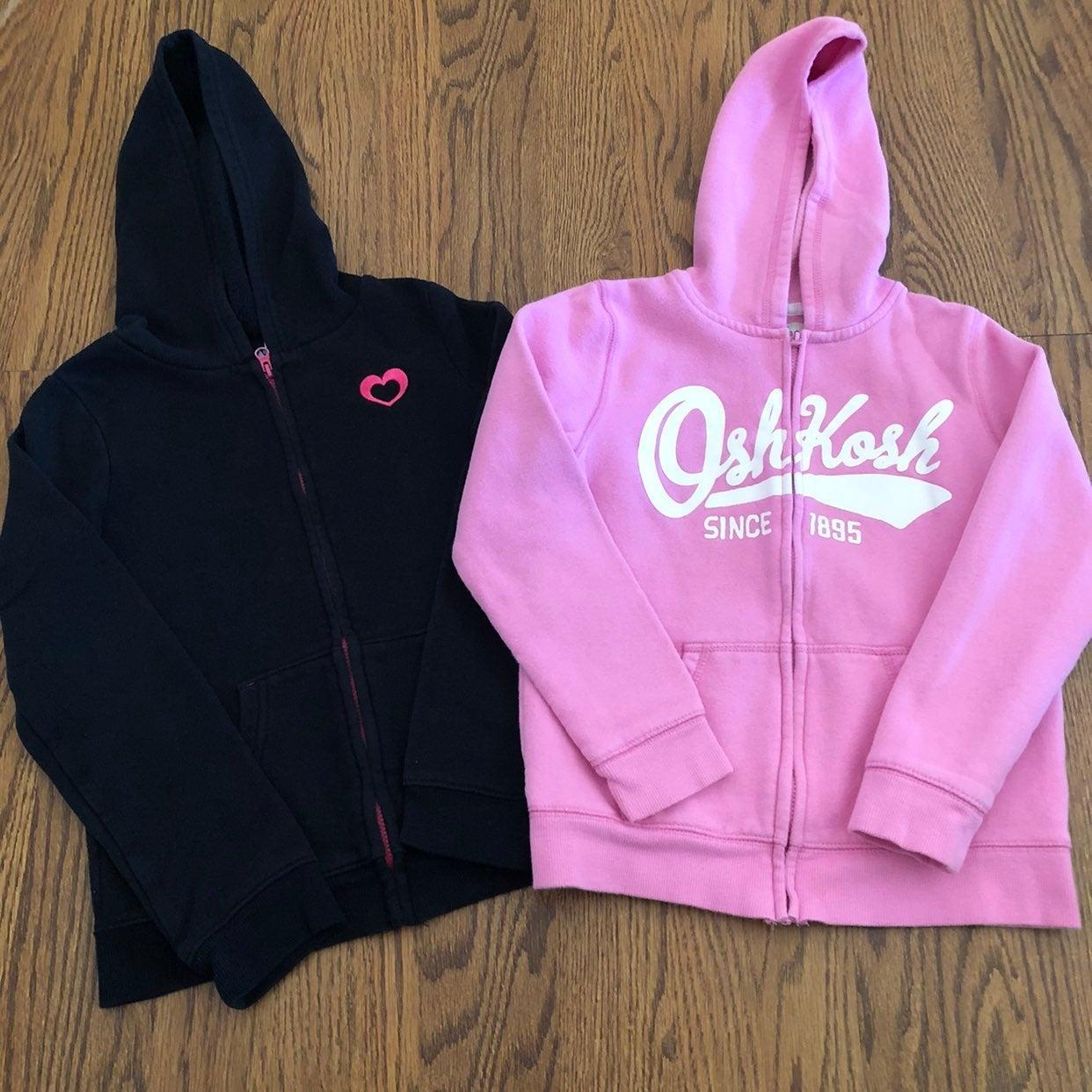 Girls Hoodies Size 7 Pink OshKosh Black