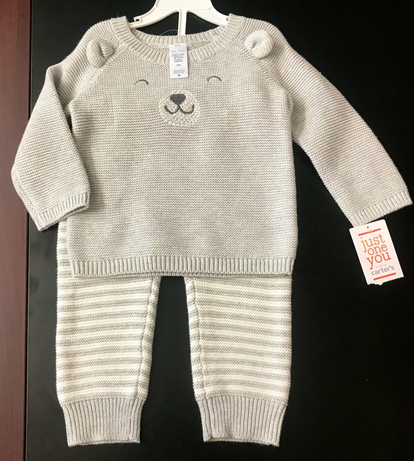 Knitted baby outfit