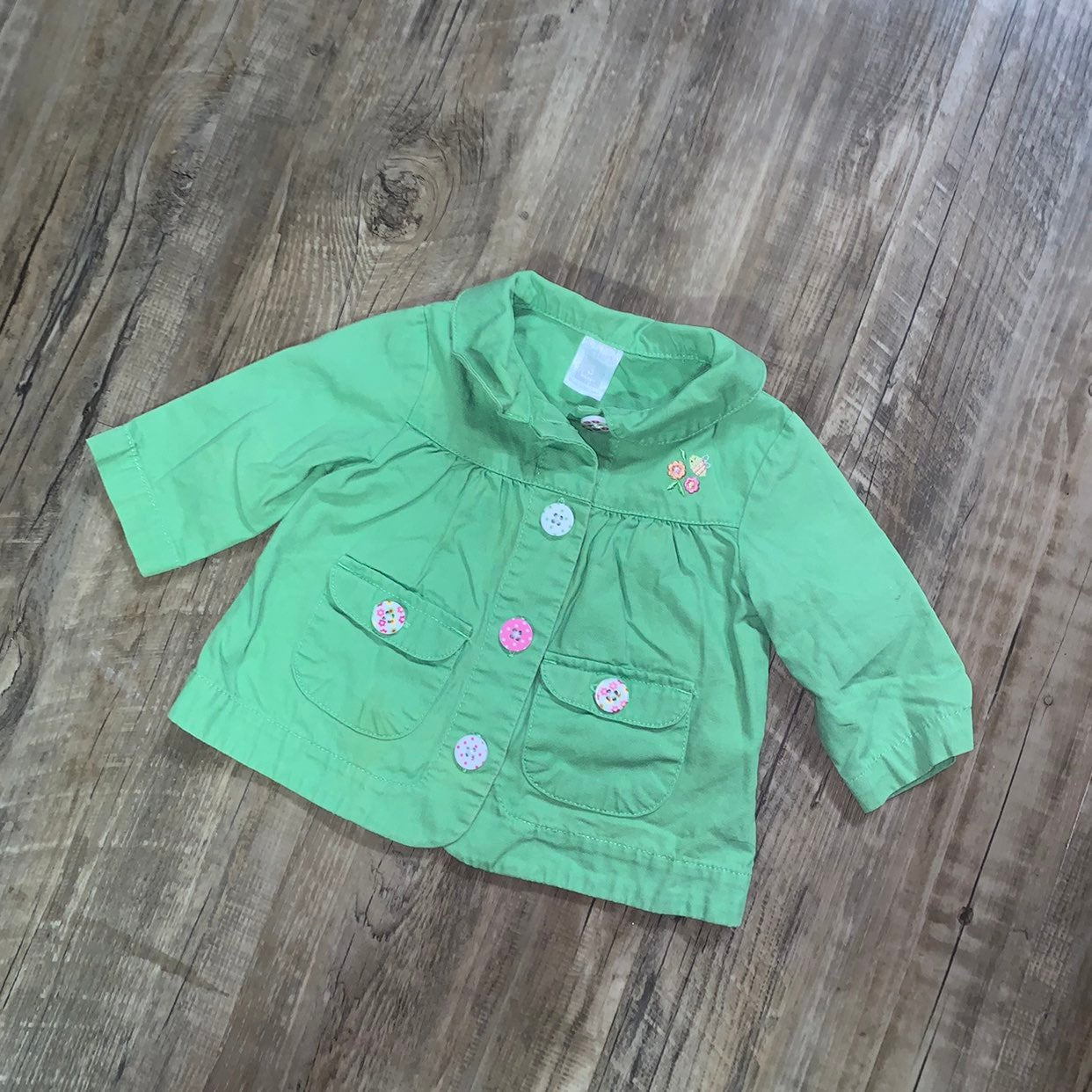 Carters Green Spring Jacket - 3 Months