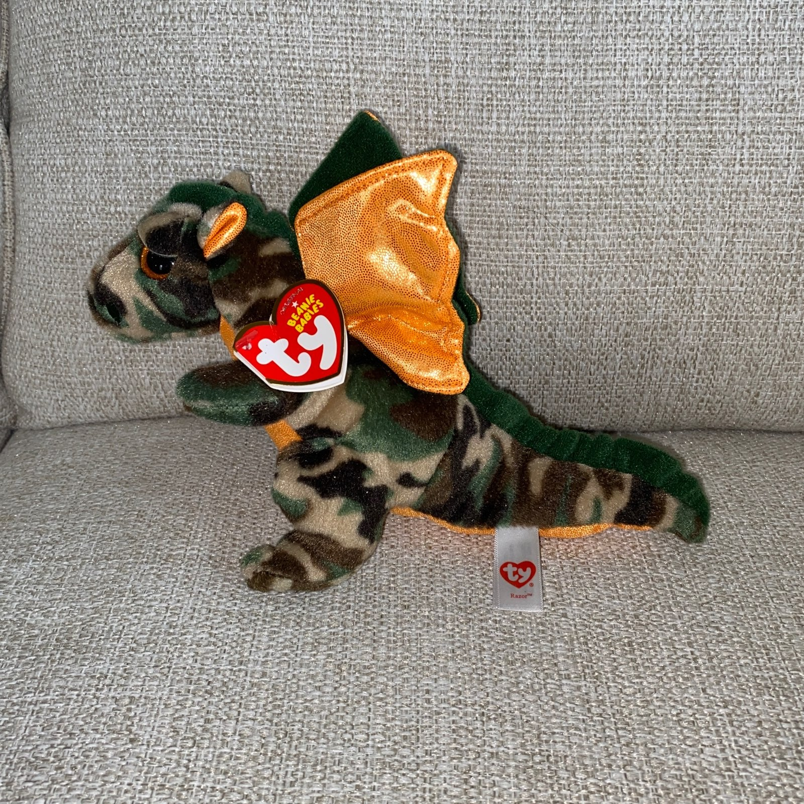 LIKE NEW! Ty Beanie dragon