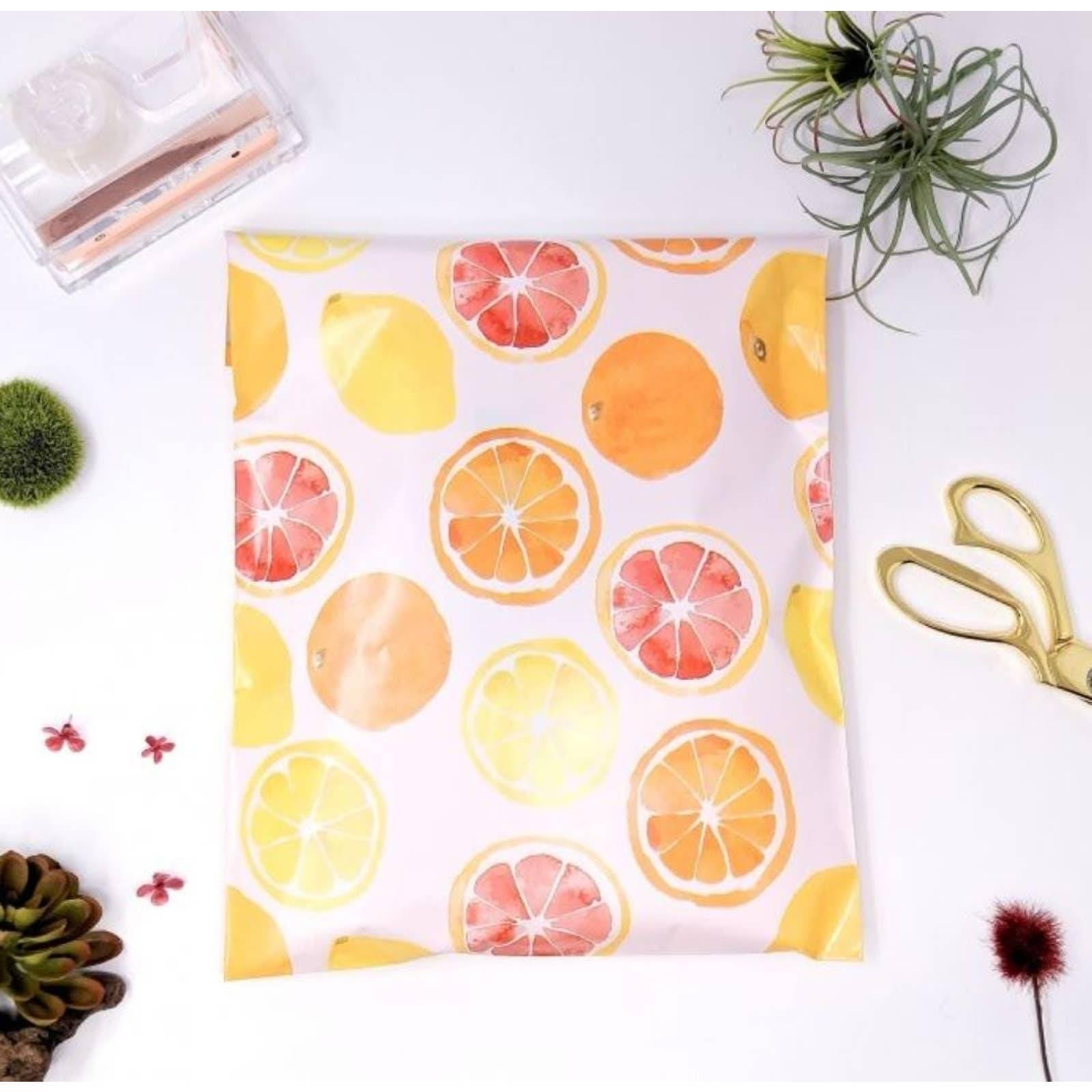 40 Citrus Fruit 10x13 Polymailers