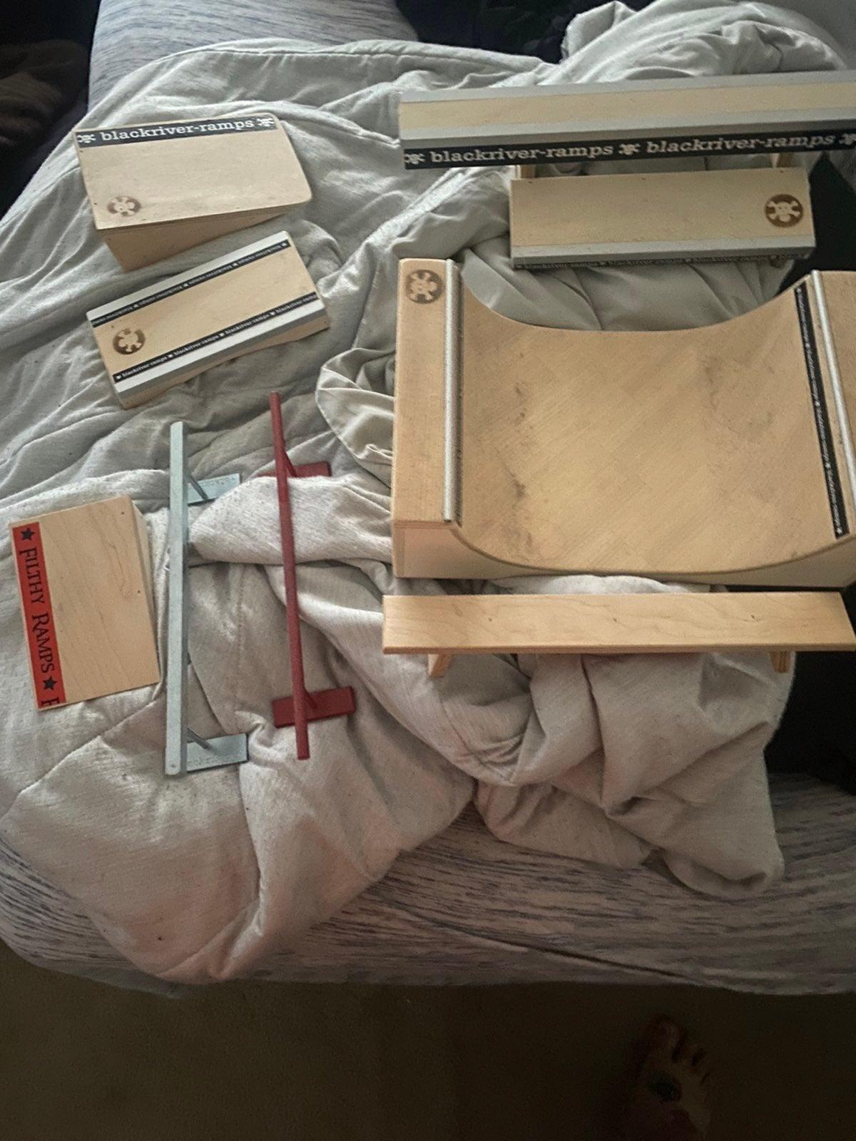Lot of fingerboard ramps, rails etc..