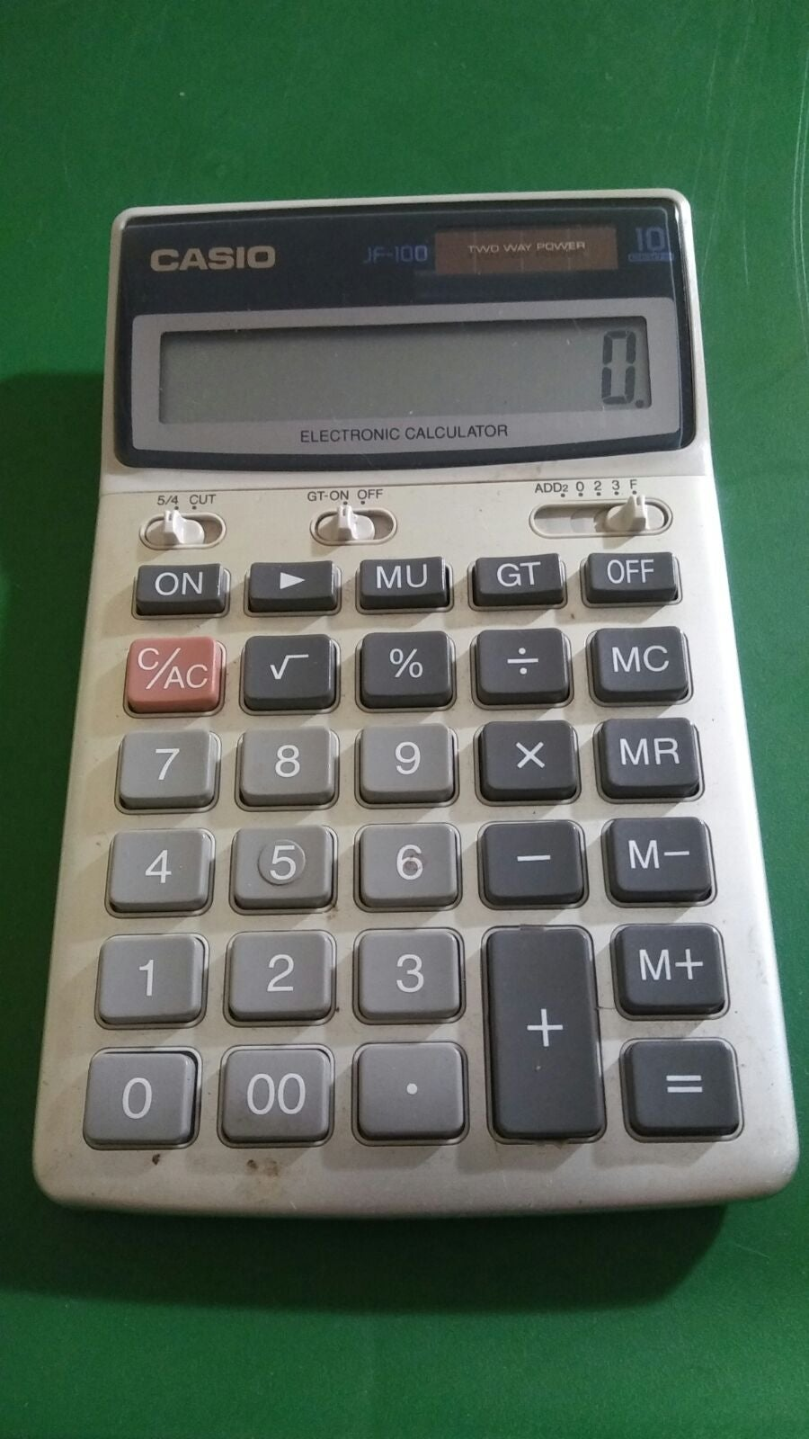 Casio JF-100 solar calculator