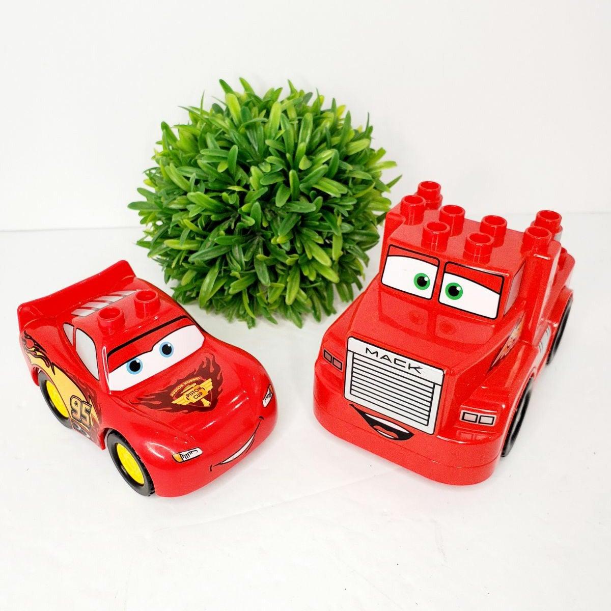 Rare Lego Duplo JALOPY CAR BLOCK from DISNEY PIXAR CARS MOVIE PRINTED BLOCK