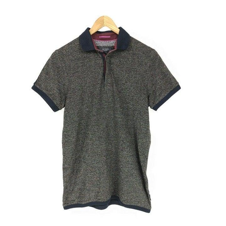 Ted Baker Polo Shirt Gray Men's Small