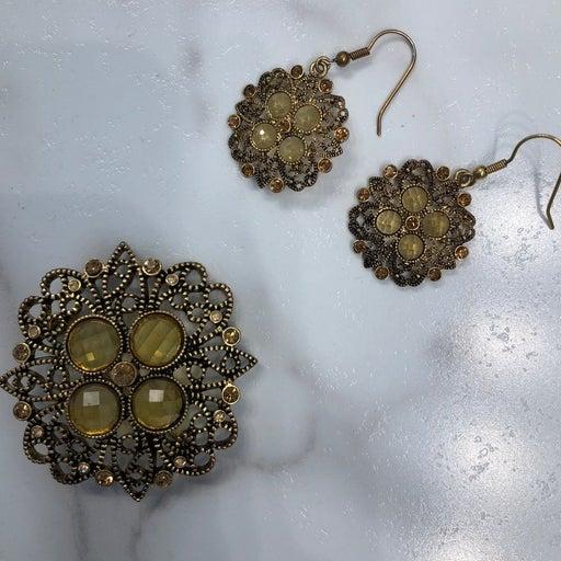 Premier Designs Earrings And Brooch