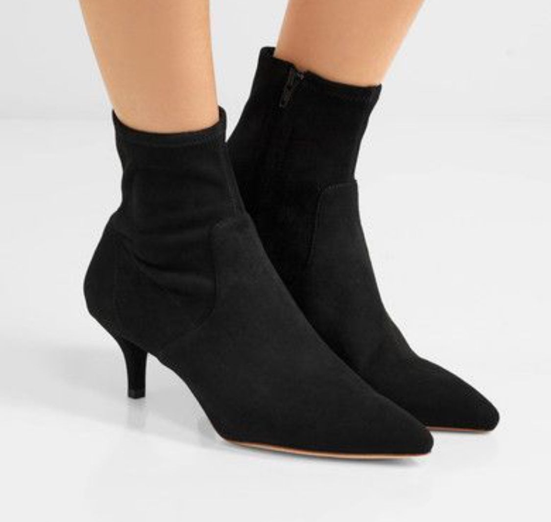 loeffler randall black sock ankle boots
