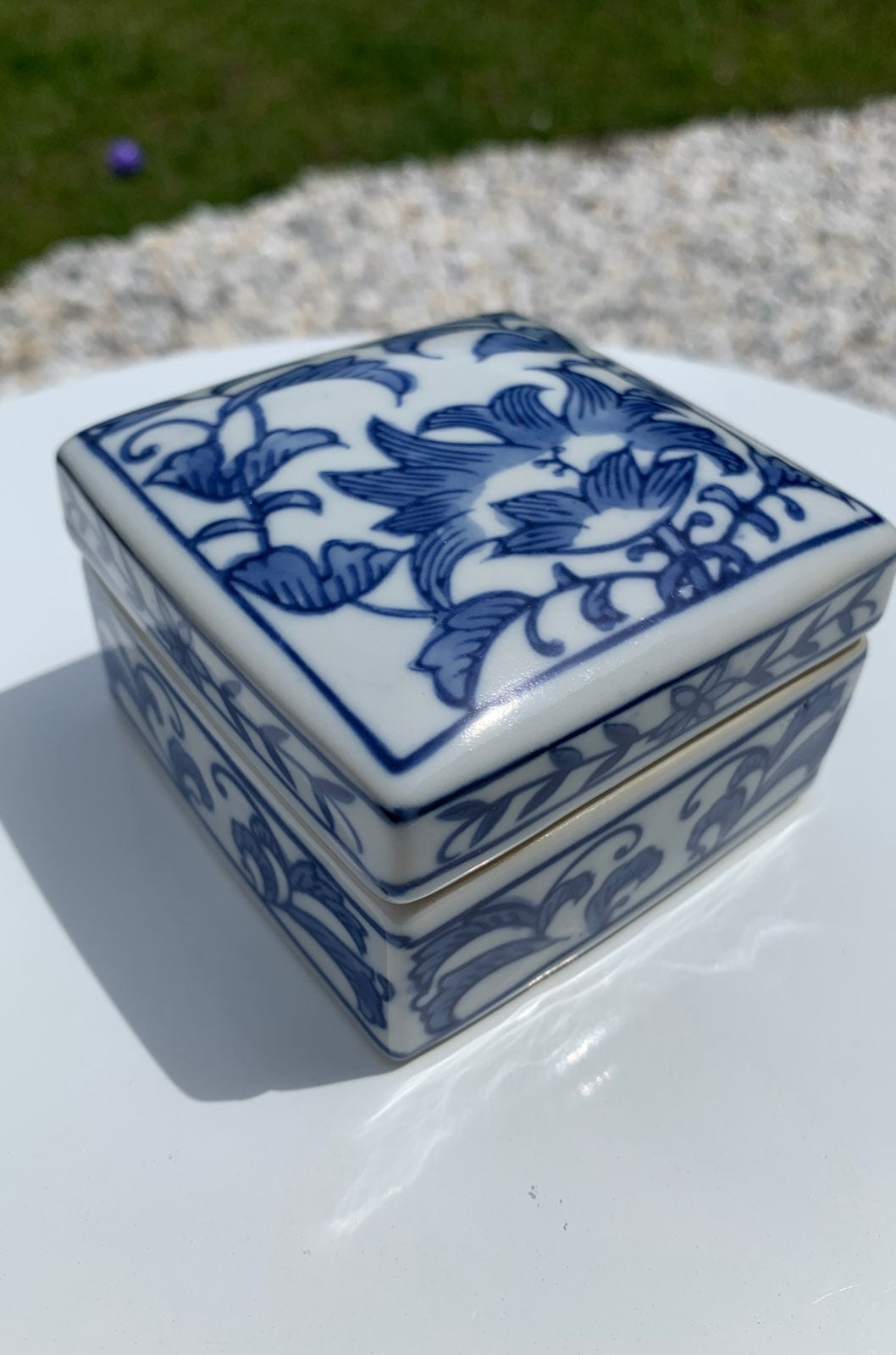 New Porcelain Trinket Jewelry Box