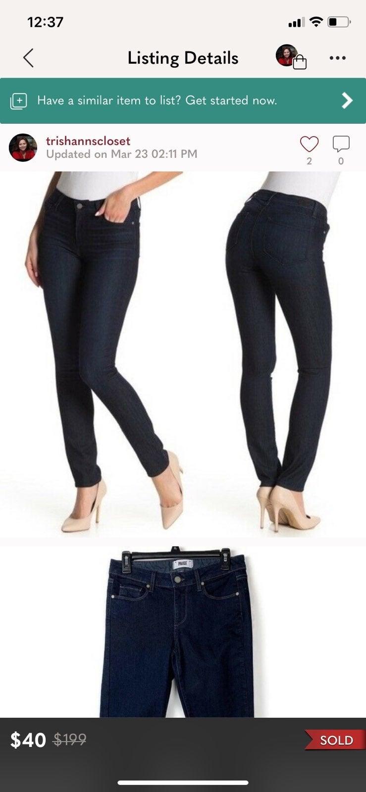 Paige Skyline Skinny Jeans Mid Rise Twil