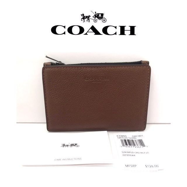 Tommy Bahama Business Card Case Holder NWT $45 Khaki//Brown