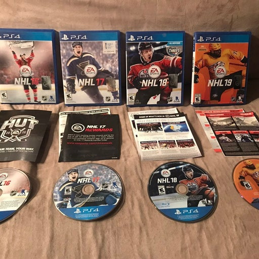 Lot of Four PS4 NHL Games! NHL 16 17 18 19