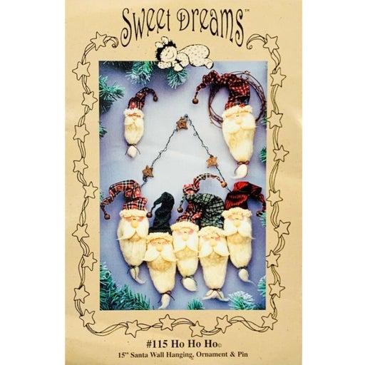Ho Ho Ho by Sweet Dreams, Christmas Santa Wall Hanging Pin and Ornament Pattern
