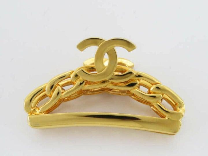 Chanel 98p Gold Plated CC Logo Chain Hai
