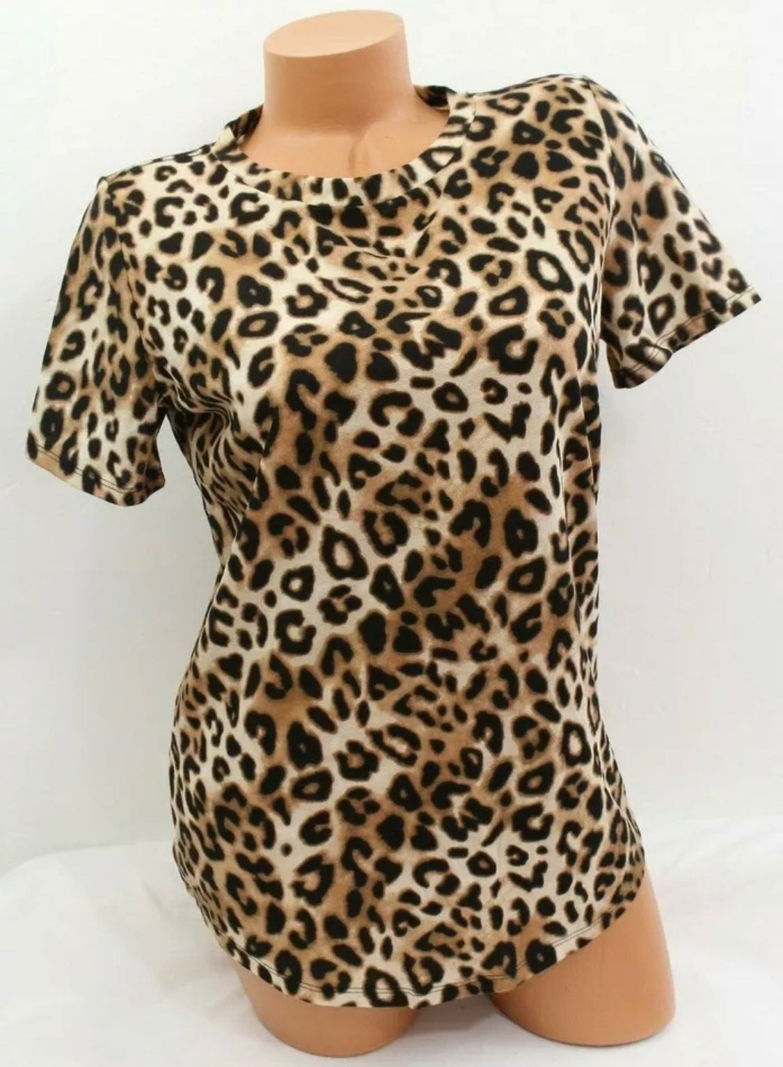 VS PINK Tee Cheetah Leopard Size L NWT