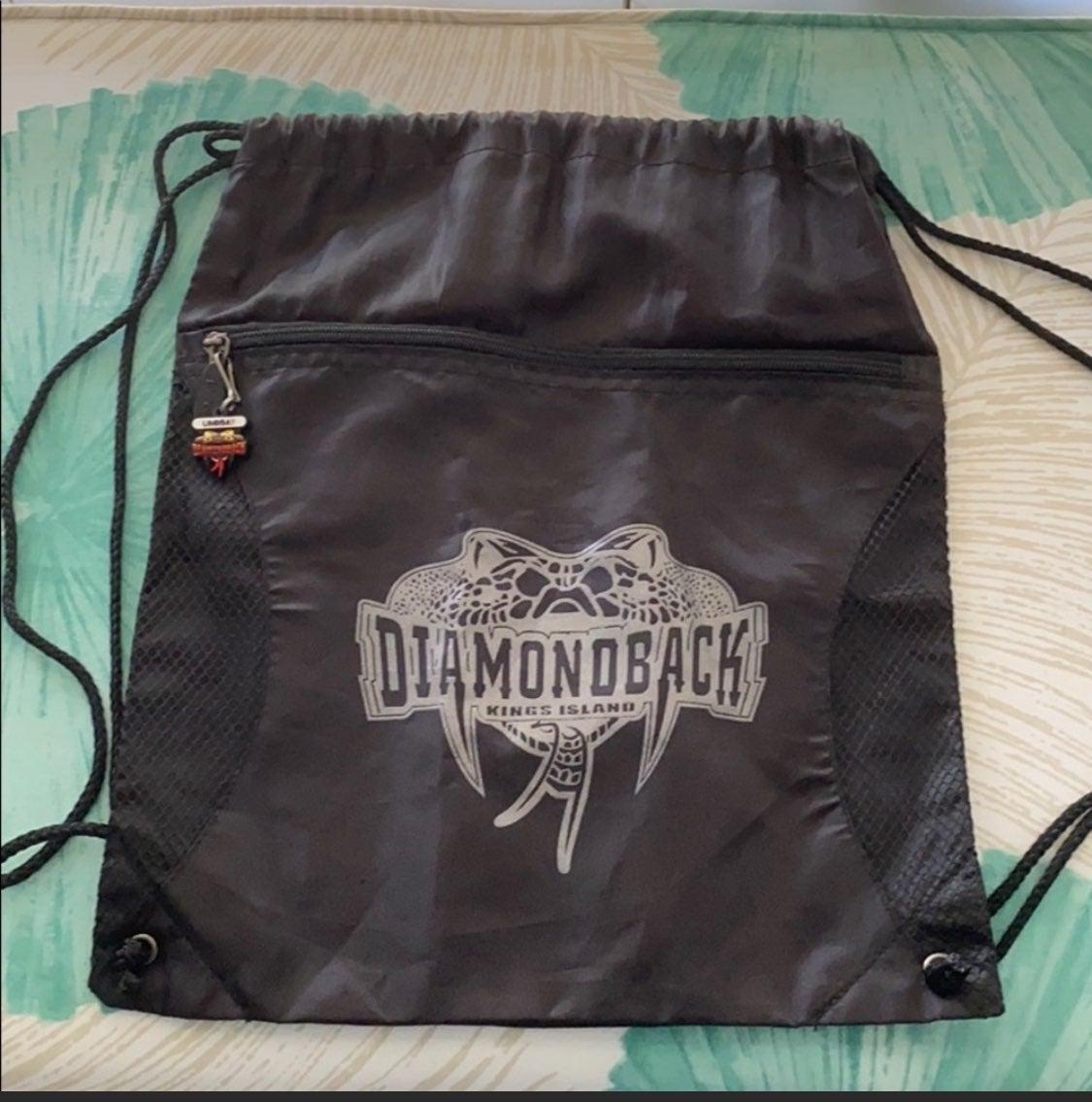 Diamond back drawstring bag