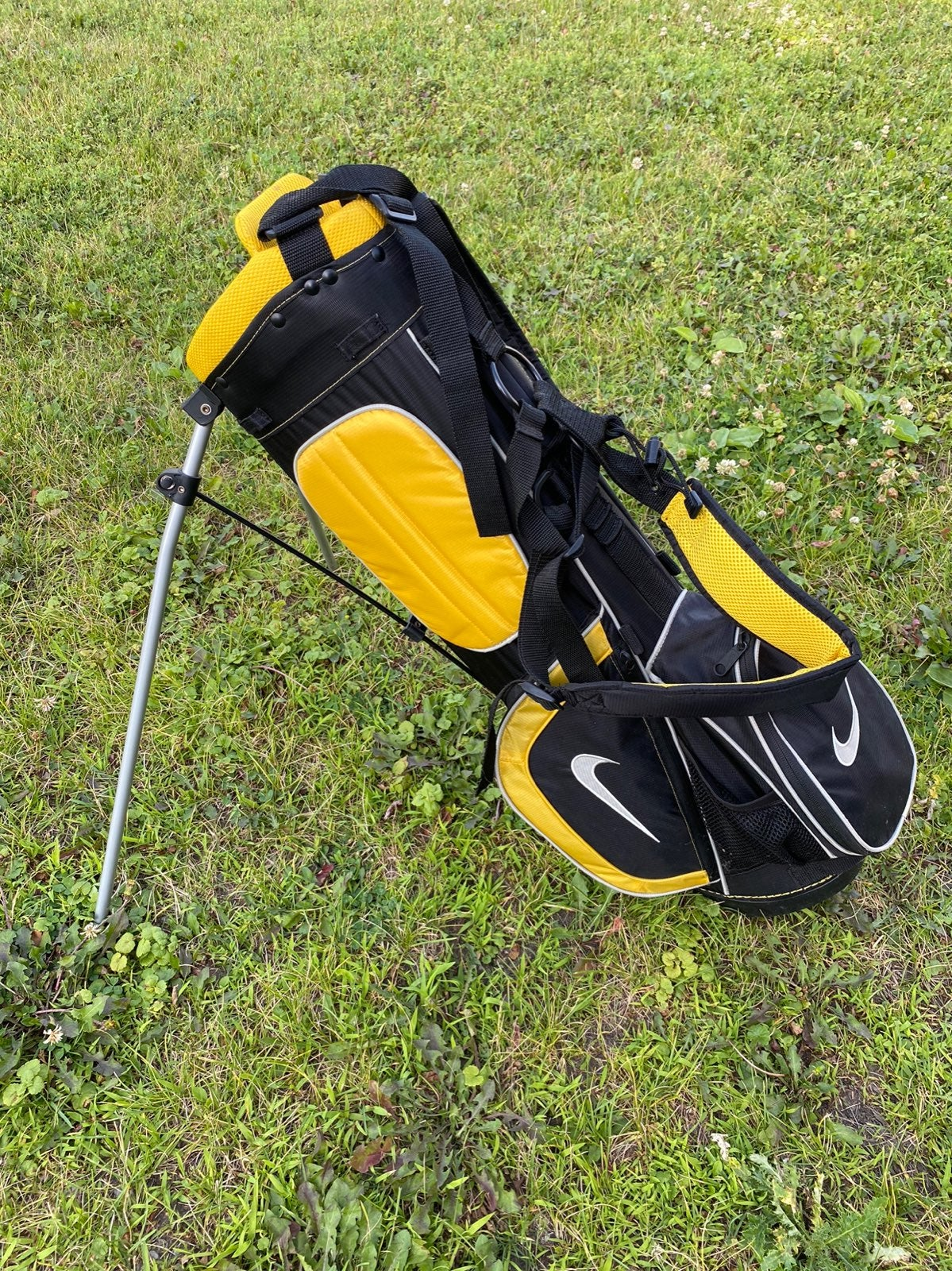 Nike Golf Stand Golf Bag Black & Yellow