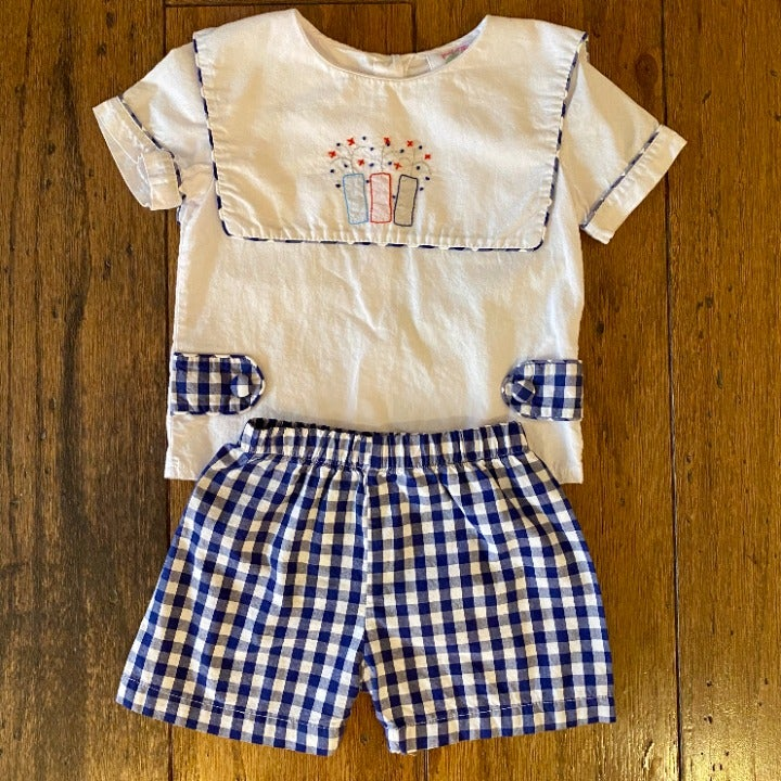 Cecil & Lou 4th of July 2 Piece Outfit