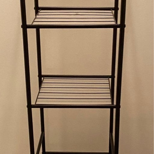 Black Bathroom 5 Shelf Stand