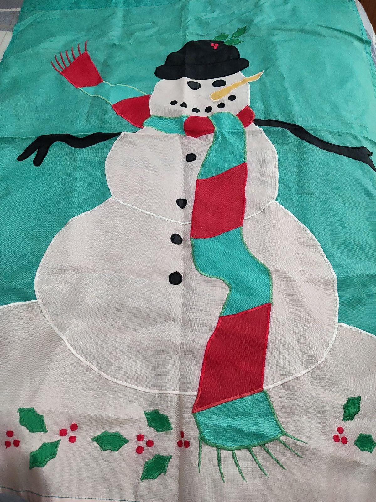 Christmas snow man banner
