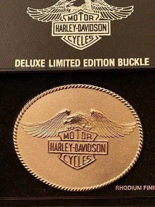 Harley Davidson RHODIUM belt buckle