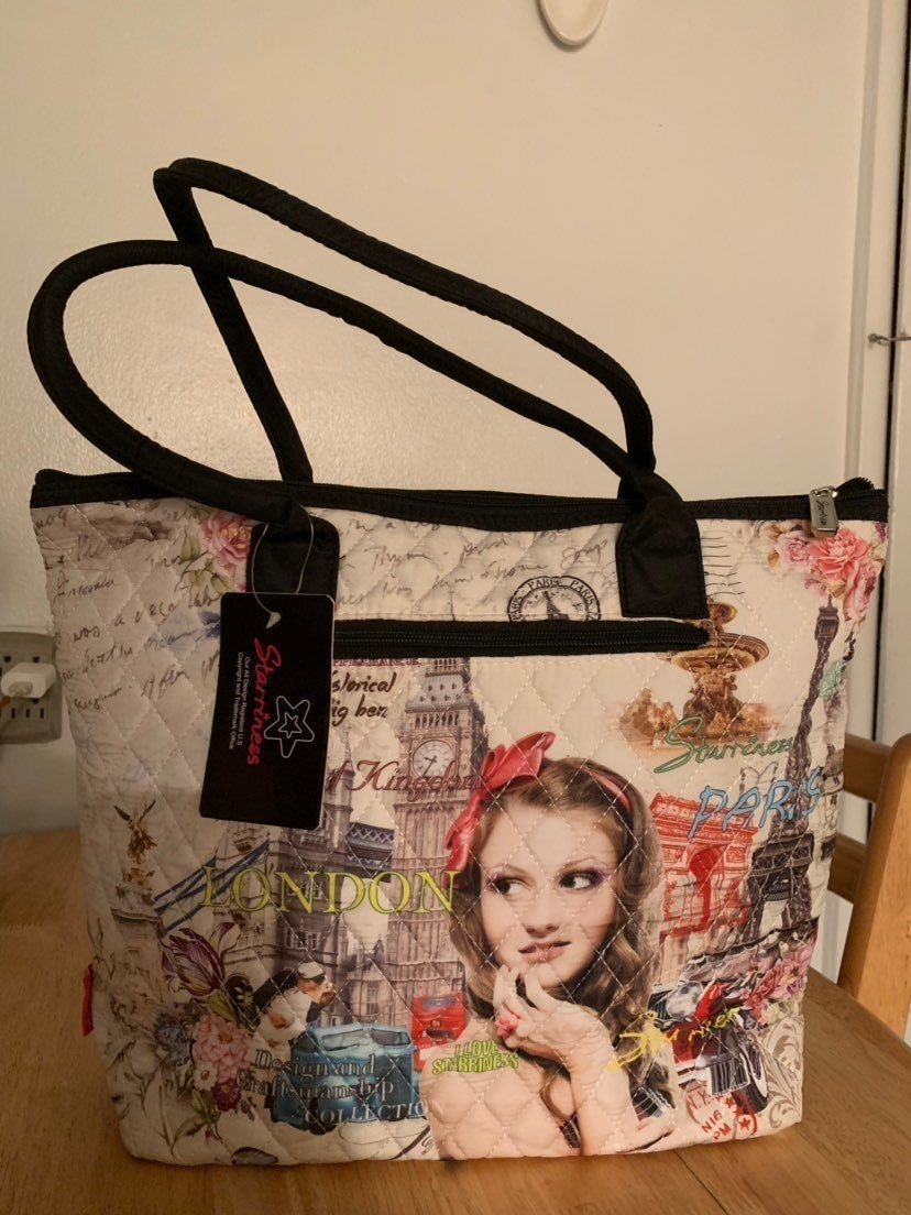 Starriness London And Paris Tote Bag