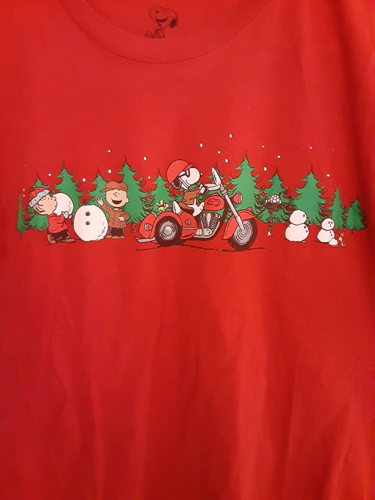Christmas Peanuts T-Shirt Size M 18W 25L