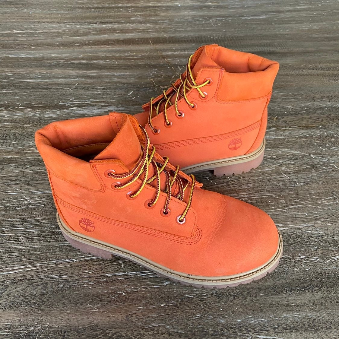 *SALE* Timberland Orange Boots Size 3Y