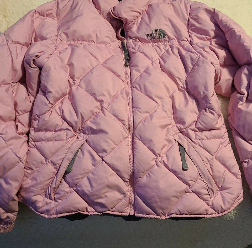 The North Face Pink Puffer Jacket M