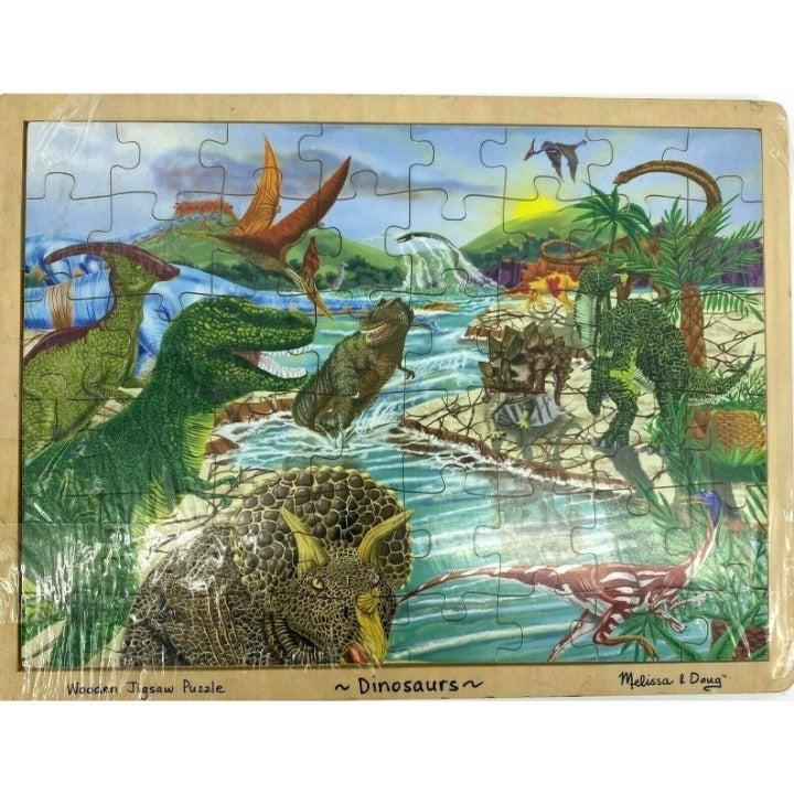 Melissa & Doug Wooden Dinousaurs Puzzle