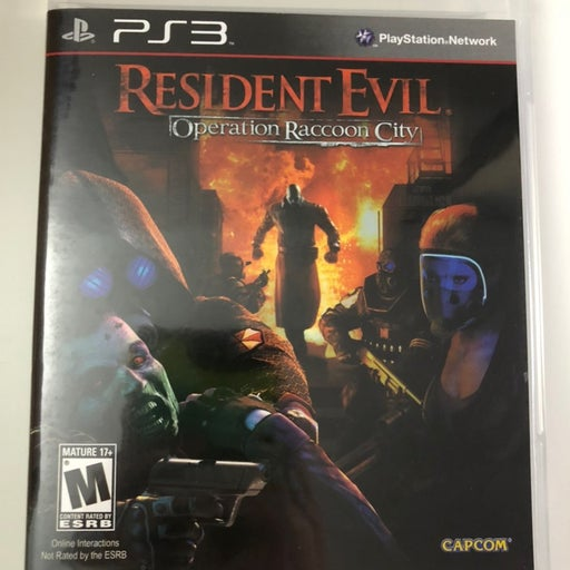 PS3 Resident Evil Operation Raccoon