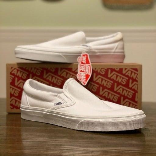 Vans Classic Slip-On Shoes True White *BRAND NEW Size 8.5