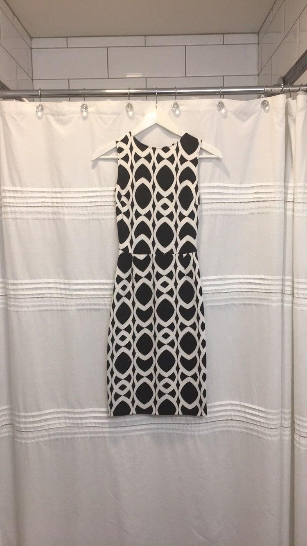 Love Ady, Black & White Sheath Dress