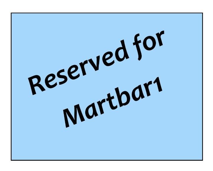 Reserved Listing for Martbar1
