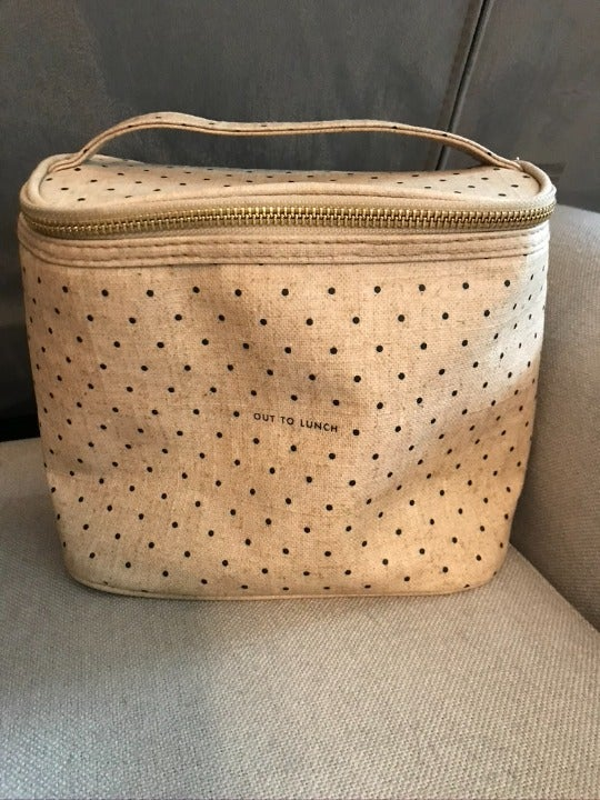 """Kate Spade """"out to lunch"""" dot lunchbox"""