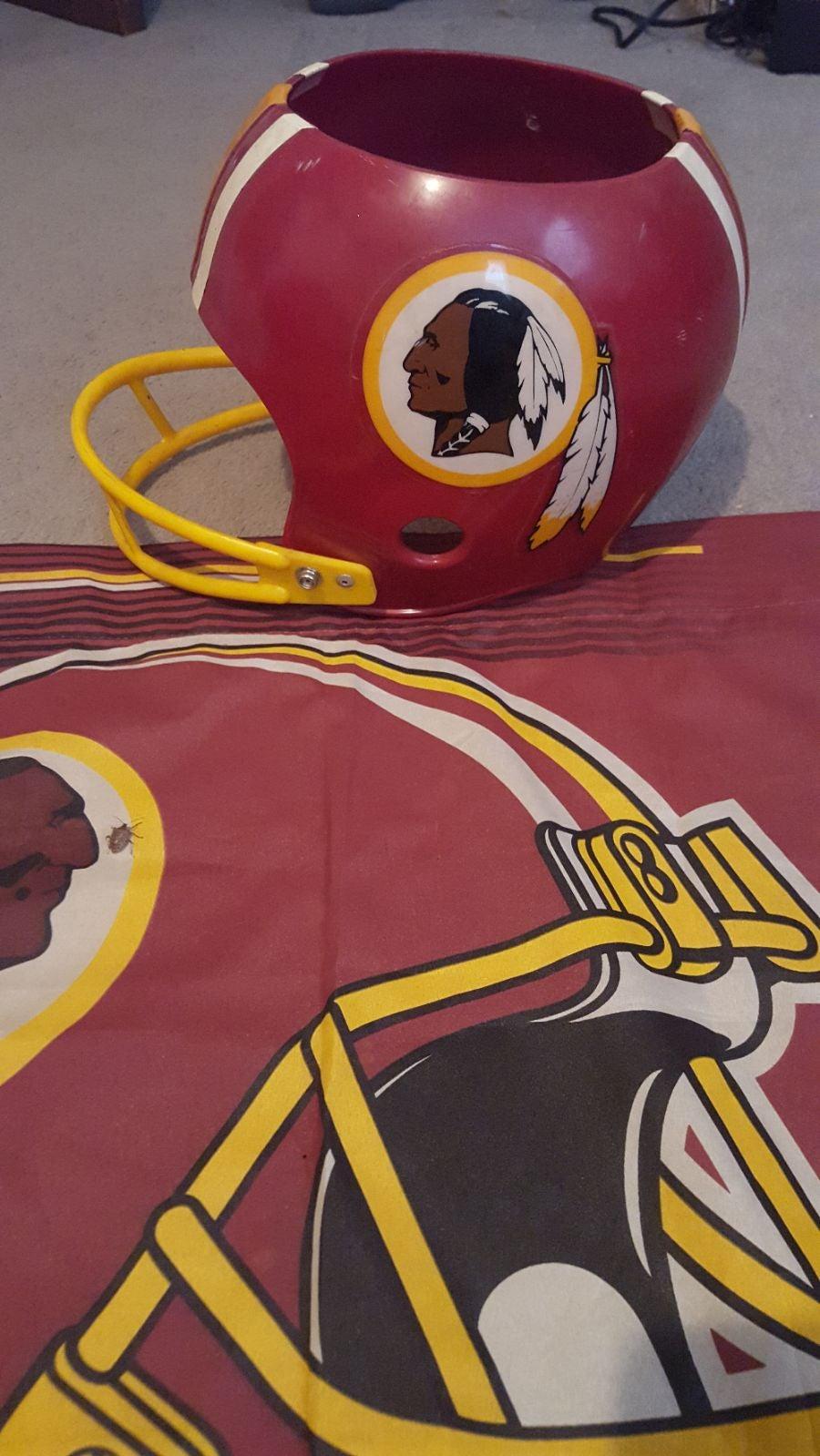 Vintage Washington Redskins Helmet, Flag