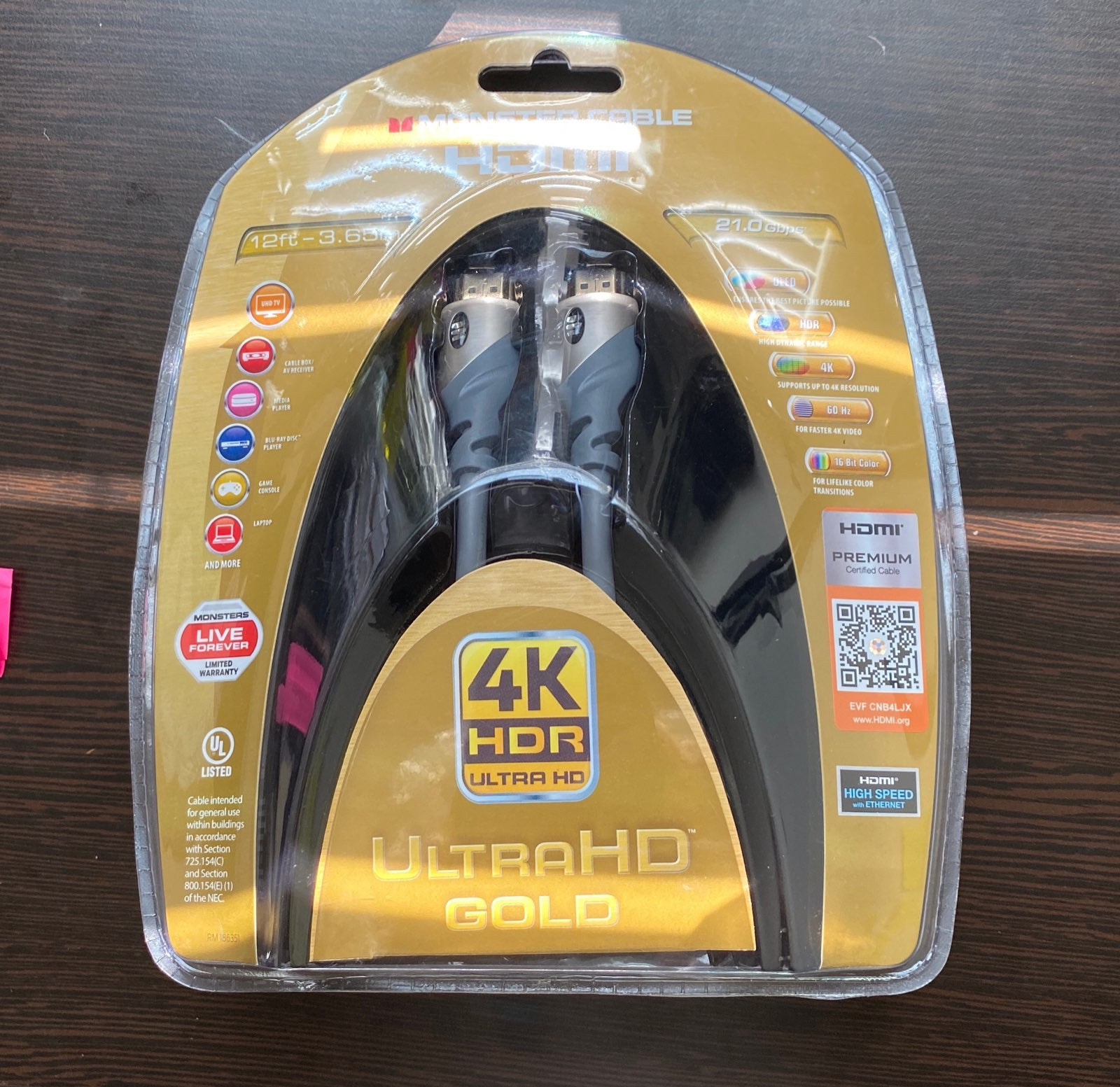 Monster Cable Ultra HD Gold High Speed H