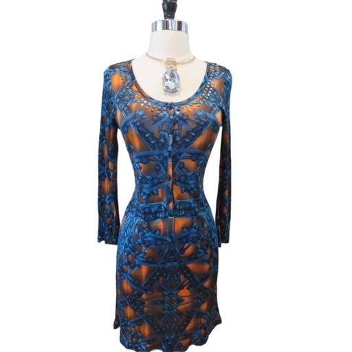 Custo Barcelona Blue Dress Size 3 Small