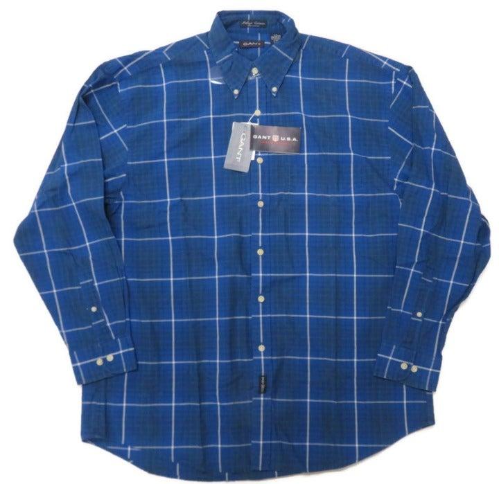 Gant Indigo Canvas Shirt Mens Large Blue