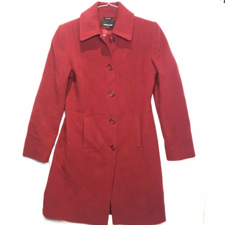Jones New York Womens 10 Red Trench Coat